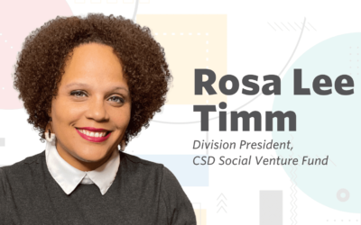 Communication Service for the Deaf names Rosa Lee Timm Division President of the CSD Social Venture Fund