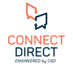Orange and blue Connect Direct Logo