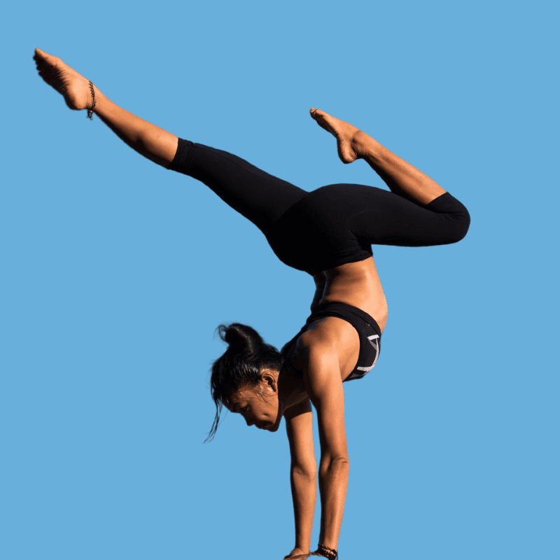 Woman in a handstand