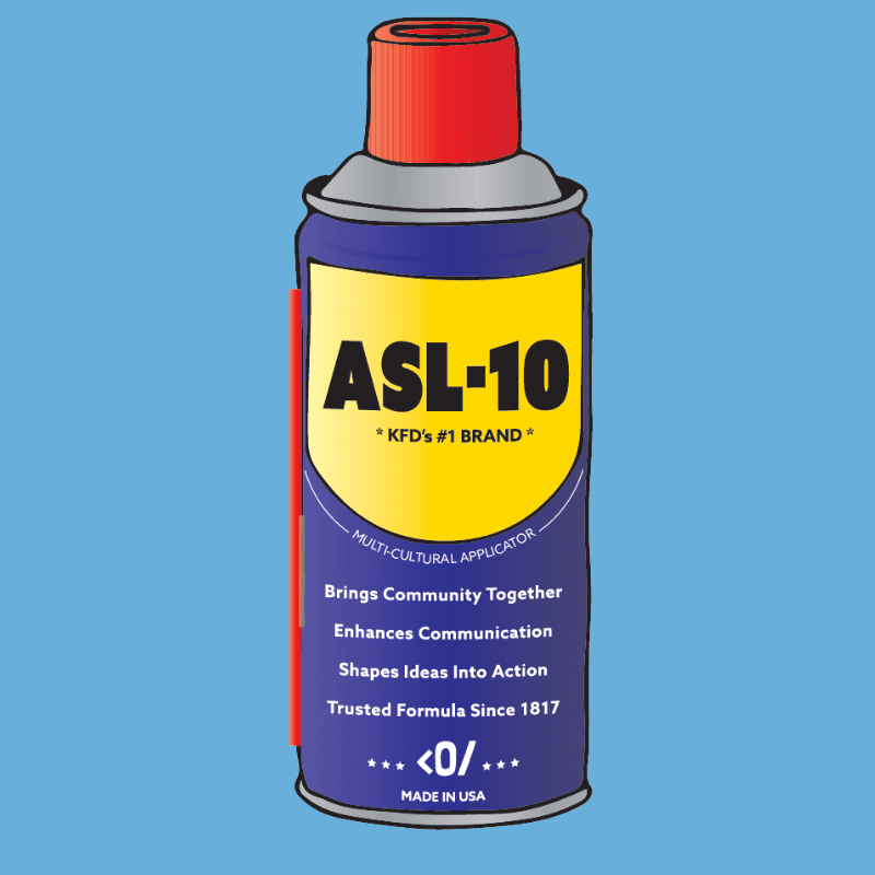 """Drawing of an aerosol can called """"ASL-10"""""""