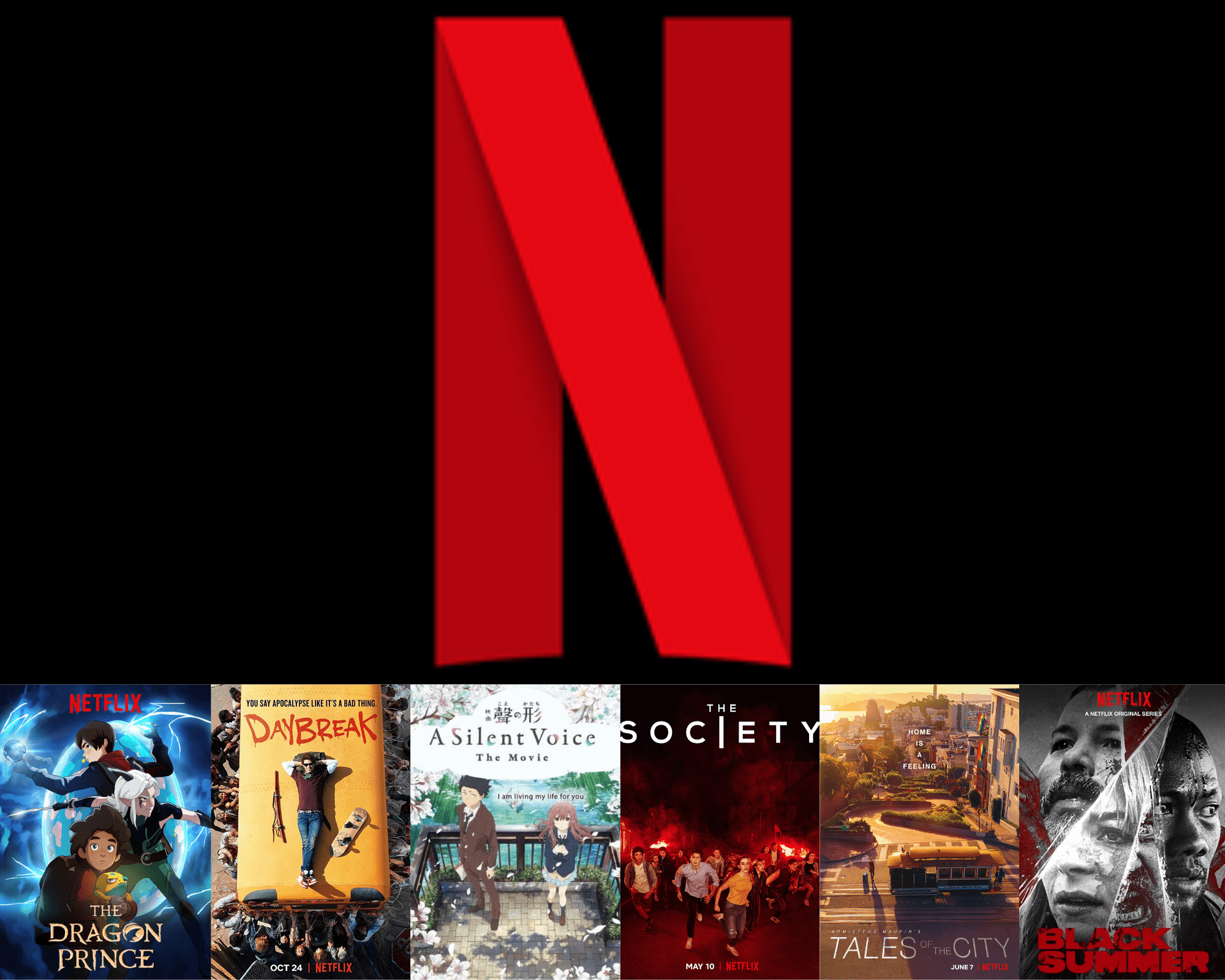 Netflix logo with collage of shows featuring Deaf talent