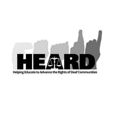 Helping Educate to Advance the Rights of Deaf Communities Logo