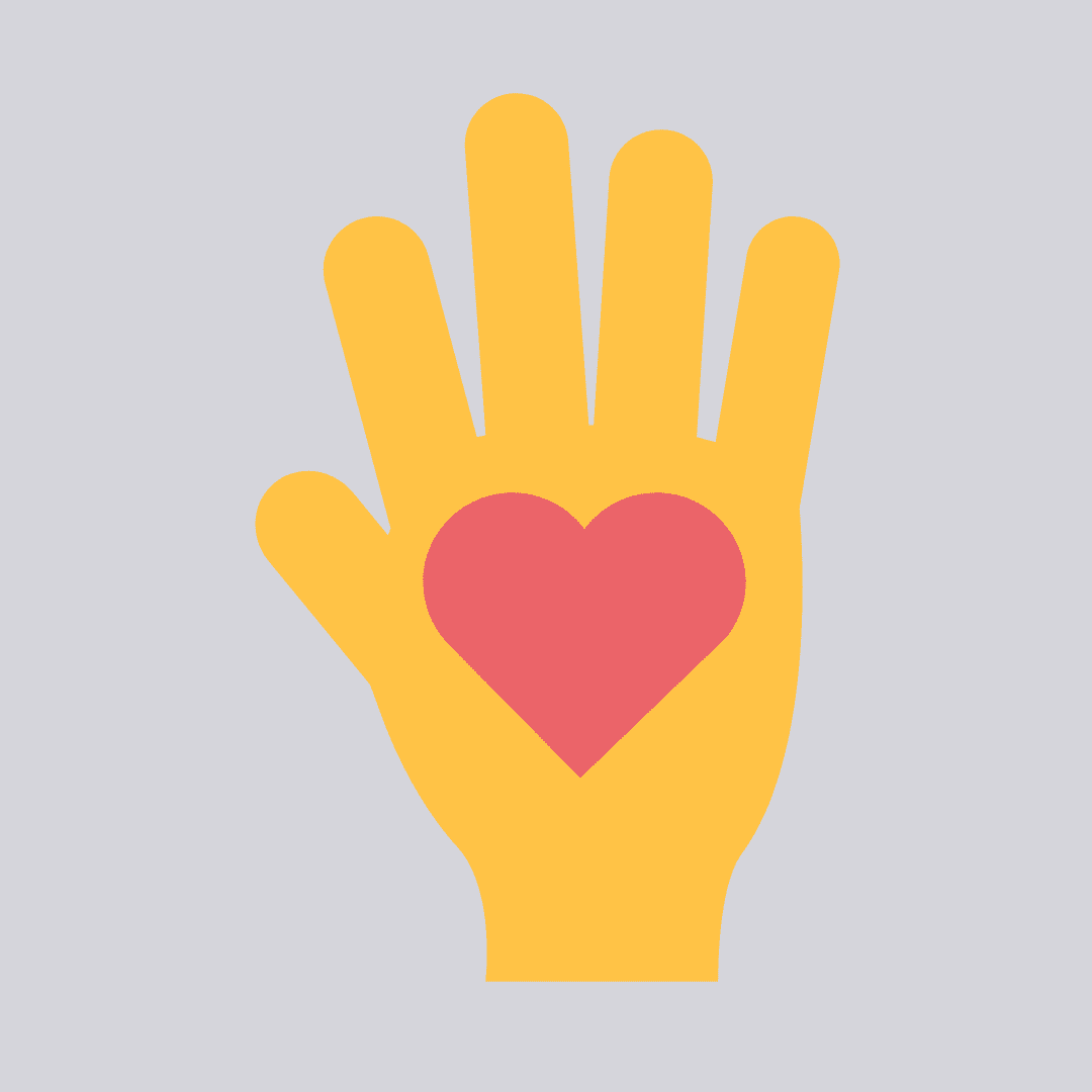 Hand with a heart on the palm