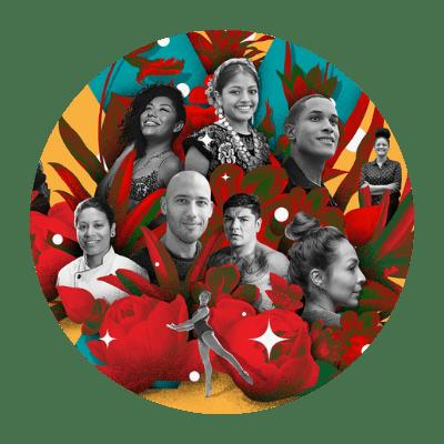 Collage of Latinx Individuals