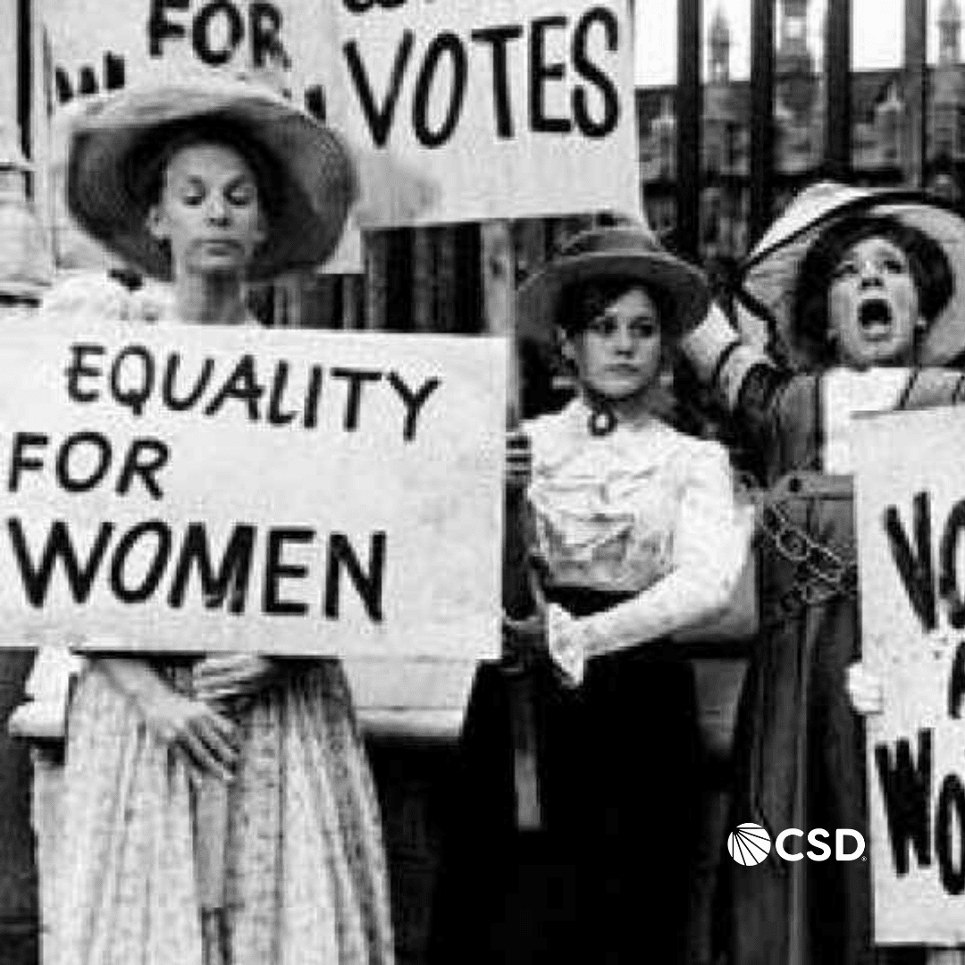 Photo of women protesting for the right to vote